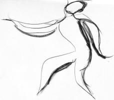 Sketch of dancer
