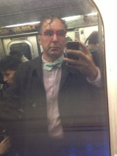 Subway window reflection NYC