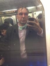 Subway window reflection NYC